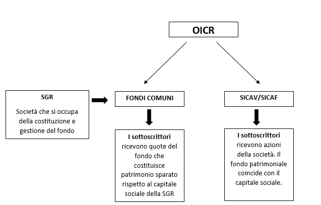 differenza tra OICR -SGR- SICAV